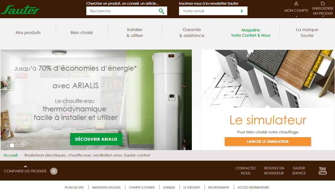 homepage-confort-sauter-one